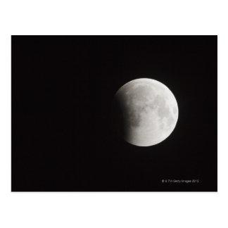 Postal Principio de un eclipse total de la luna