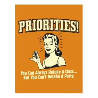 Postal Prioridades: Usted puede volver a tomar siempre