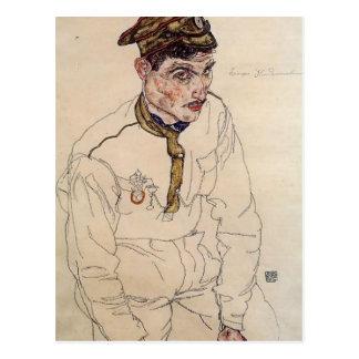 Postal Prisionero de guerra del ruso de Egon Schiele-