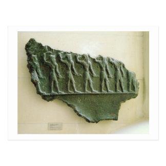 Postal Procesión de los guerreros de Elamite, Susa, Irán,