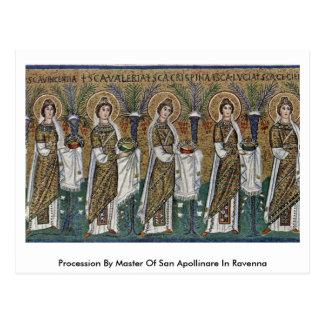 Postal Procesión por el amo de San Apollinare en Ravena