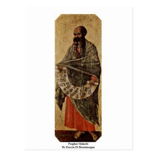 Postal Profeta Malachi de Duccio Di Buoninsegna
