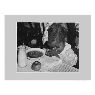 Postal Programa del almuerzo escolar, los años 30