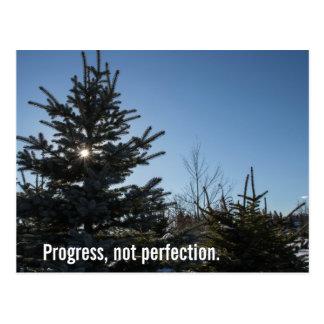 Postal Progreso, no perfección - lema de la recuperación