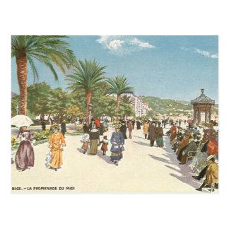 """Postal """"promenade"""" en Niza"""