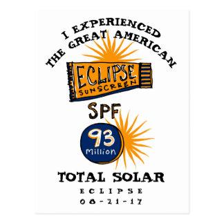 Postal Protección solar divertida del eclipse solar