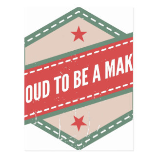 Postal Proud to be a Maker vintage logo