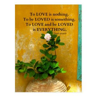 Postal proverbio del Griego de la cita del amor del