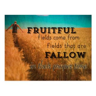 Postal Proverbio fructuoso del campo