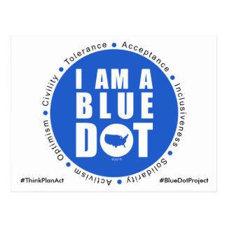 Postal Proyecto azul los E.E.U.U. del punto