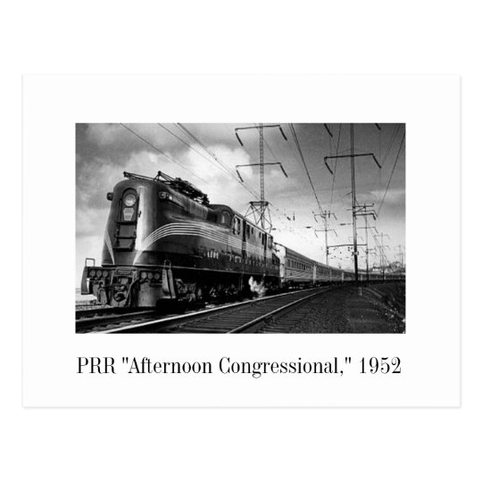 "Postal - PRR ""tarde del congreso,"" 1952"