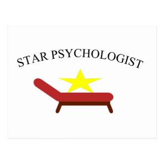 Postal psicólogo de la estrella