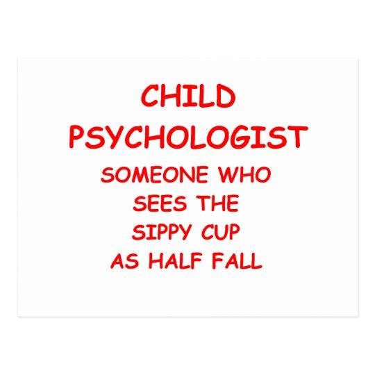 Postal psicólogo del niño