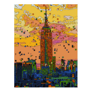 Postal Psychedlic NYC: Empire State Building #1