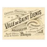 Postal Publicidad del francés del vintage