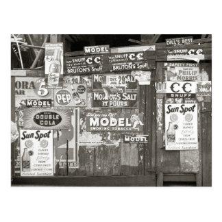 Postal Publicidad del vintage, 1938