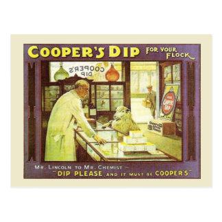 Postal Publicidad del vintage, la inmersión del tonelero