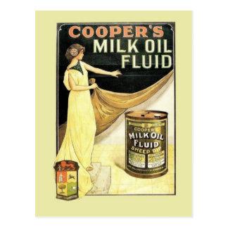 Postal Publicidad del vintage, líquido del aceite de la