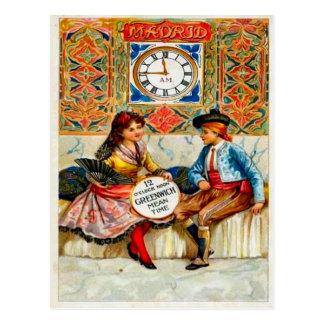 Postal Publicidad del vintage, poster del viaje, Madrid