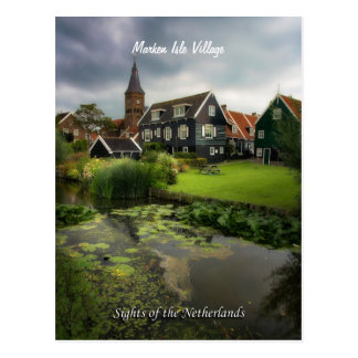 Postal Pueblo de Marken, vistas de los Países Bajos