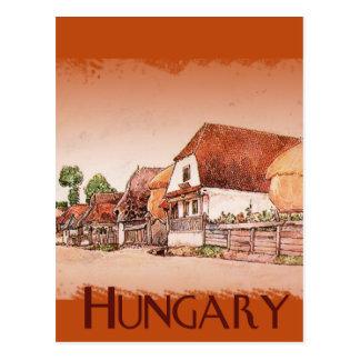 Postal Pueblo del vintage de Hungría