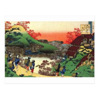 Postal Pueblo japonés