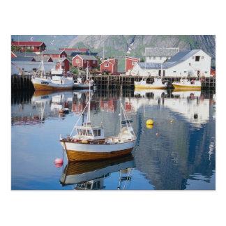 Postal Pueblo pesquero de Reine, Lofoten, Noruega