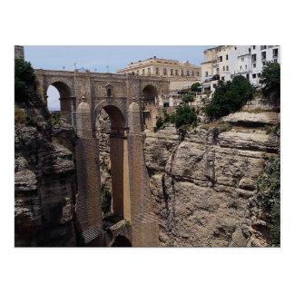 Postal Puente al viejo cuarto, Ronda, España