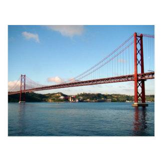 Postal Puente colgante de Lisboa