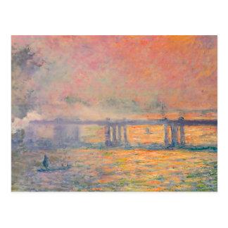 Postal Puente cruzado de Claude Monet Charing