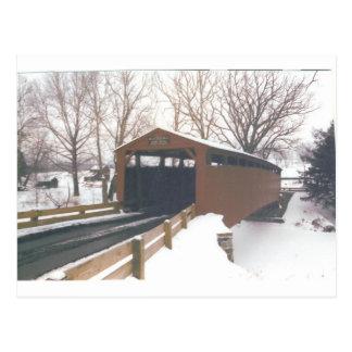 Postal Puente cubierto de los molinos de Belces