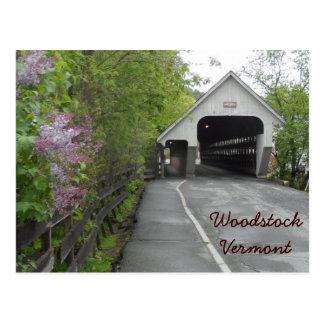 Postal Puente cubierto de Woodstock, Vermont