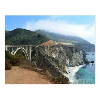 Postal Puente de Bixby en la costa grande de Sur de