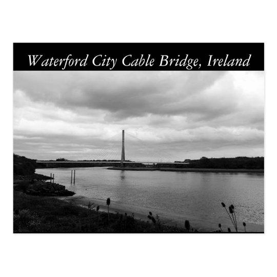 Postal Puente de cable de Waterford. Waterford, Irlanda