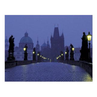 Postal Puente de Charles - Praga