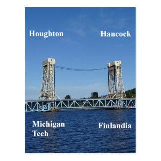 Postal Puente de elevación del lago Portage