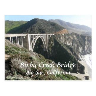 Postal Puente de la cala de Bixby, Sur grande, California