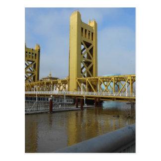 Postal Puente de la torre de Sacramento