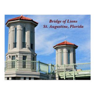 Postal Puente de los leones St Augustine, la Florida