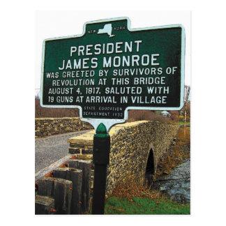 Postal Puente de piedra de presidente James Monroe