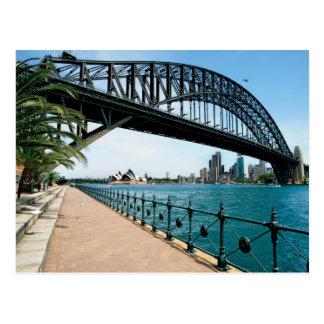 Postal puente de puerto de Sydney
