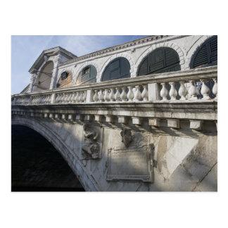 Postal Puente de Rialto sobre el Gran Canal Venecia