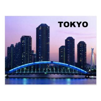 Postal Puente de Tokio Japón Eitai