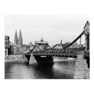 Postal Puente de Weser, Bremen, c.1910