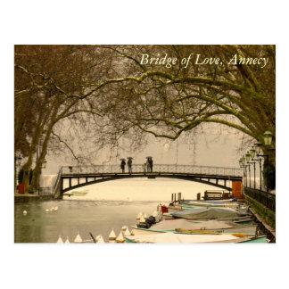Postal Puente del amor, Annecy, Francia