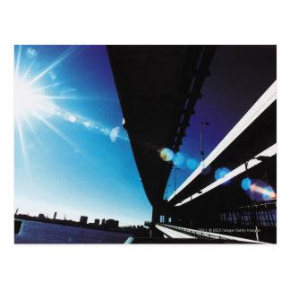 Postal Puente del arco iris, Tokio