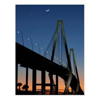 Postal Puente del Jr. de Arturo Ravenel en la oscuridad