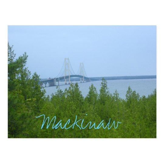 Postal puente del mackinaw