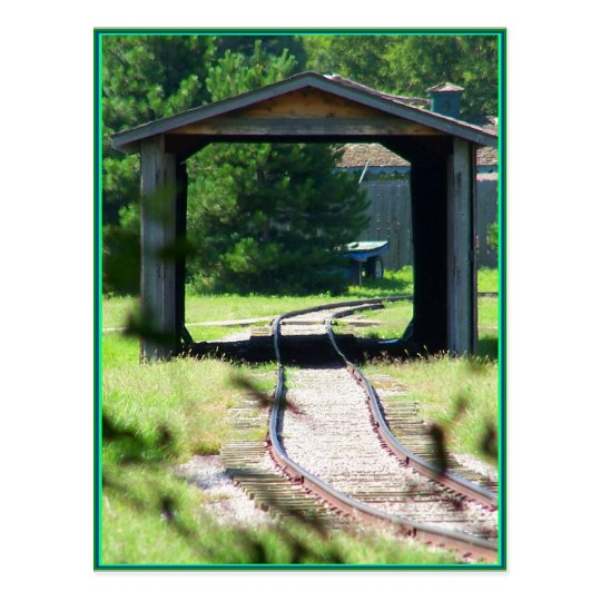 Postal puente del tren