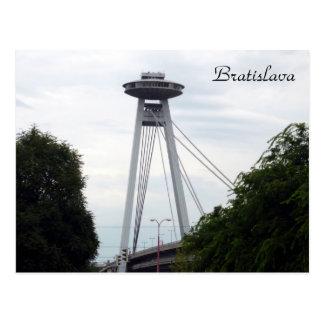 Postal puente del UFO de Bratislava